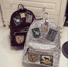 Новинка 2017 года модные женские туфли рюкзак большой Корона вышитые пайетками рюкзак оптовая продажа женские кожаные рюкзак школьные сумки