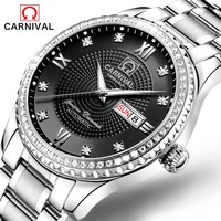 Carnival Automatic Mechanical Men's Watches Luxury Waterproof Watch Full Steel Wristwatch relogio masculino Luminous calendar|Mechanical Watches| |  -