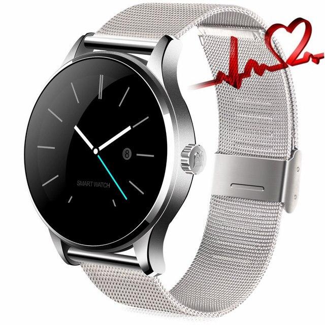 Европа Версия K88H Smart Watch MTK2502 Bluetooth Smartwatch Монитор Сердечного ритма Носимых Устройств Наручные Часы Для IOS Android
