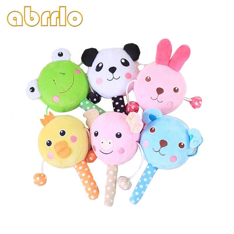 Abrrlo Cute Dog Pet Toys Squeaky Plush Cartoon Animals Drum Design Sound Pets Toys Sound Dogs Toys BiBi Sound Pet Chewing Toy