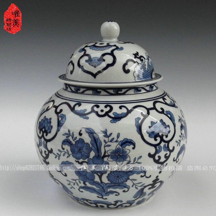 Цзиндэчжэнь синий и белый Фарфоровая керамика горшок блюдо синего и белого фарфоровая банка/Общие банки/бак для хранения