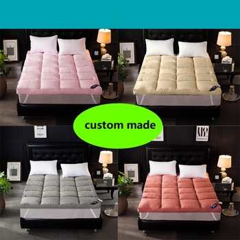 Custom Made 10cm Thickness hotel tatami bed pad warm feather velvet soft mattress topper