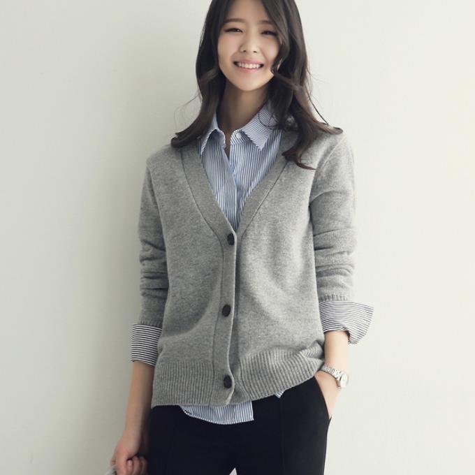 Soft Cashmere Cardigan Women Sweater 2020 Autumn Winter V Neck Jacket Jumper Pull Femme Hiver Streetwear