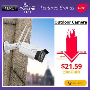 KERUI Full HD 2MP 1080 P impermeable WiFi IP cámara de vigilancia al aire libre cámara de seguridad visión nocturna nube almacenamiento CCTV Cámara