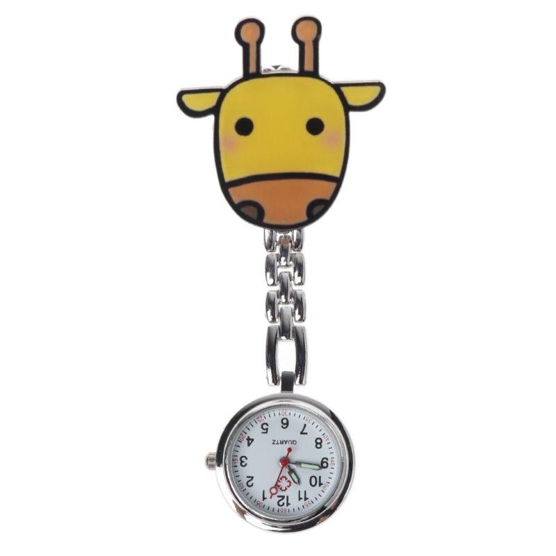 Quartz Nurse Watch Hang Clip Medical Watches Pocket Watch Cartoon Cute Fashion Silver Pendant Chest Portable Hanging Jewelry