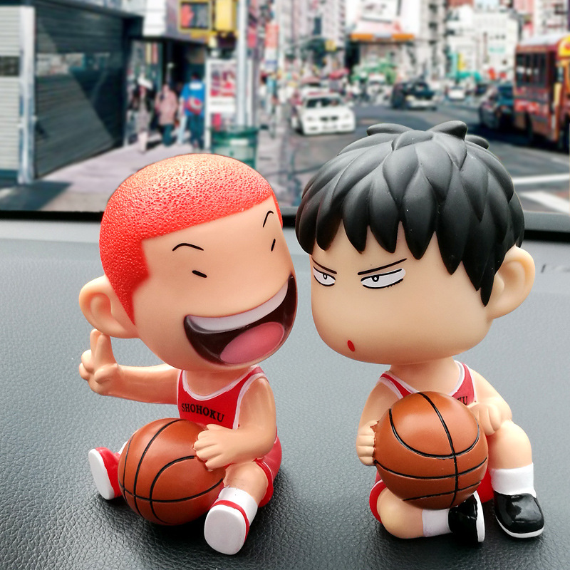 WEYA New Arrival 1pcs/Set slam dunk With base rukawa kaede and hanamichi sakuragi Action Figure Toy Model Gifts For Boy&Kids huong anime slam dunk 24cm number 11 rukawa kaede pvc action figure collectible toy model brinquedos christmas gift