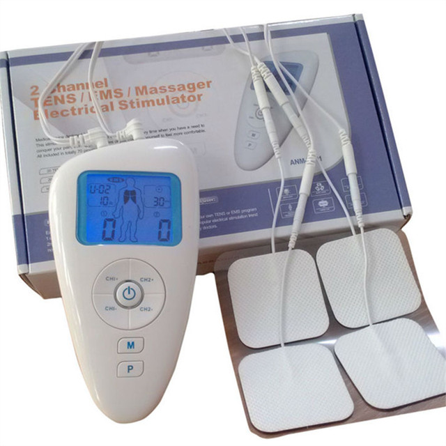 Hot new Electrical Stimulator Full Body Relax Muscle Therapy Massager with 2 channel TENS/EMS electrical nerve stimulation