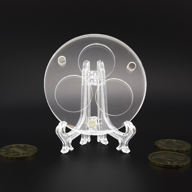 40 Holes 40mm Clear Plastice Coin Easels Coin Display Stand Display Magnificent Diy Plate Display Stand