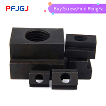 Peng Fa 45#steel T-nut sleeve Steel T-type Sliding Nut Milling Working Table Fixing T-bolts T Slot Nuts Set T-slots Nut For T Tr t t