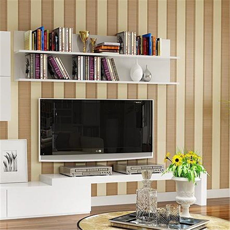 beibehang   Embossed Flocking Vertical Stripes Non-Woven Wallpaper Bedroom Living Room Background Decor Wall paper 0.53*10m/Roll beibehang shop for living room bedroom mediterranean wallpaper stripes wallpaper minimalist vertical stripes flocked wallpaper