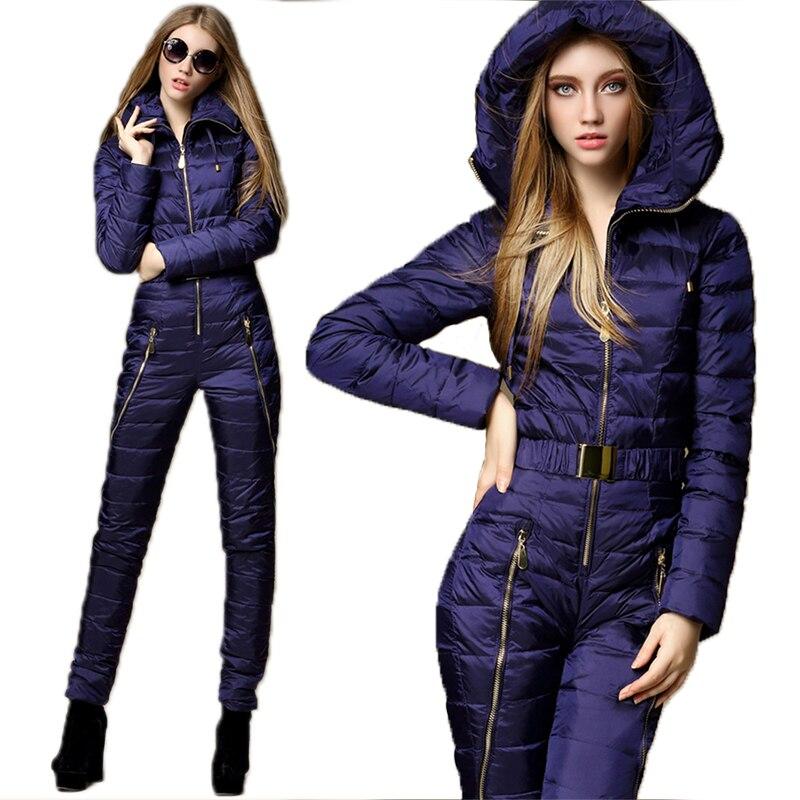 SAENSHING combinaison de Ski de montagne une pièce femmes duvet de canard combinaison de Ski d'hiver veste de Ski respirante en plein air costumes de neige d'hiver - 2