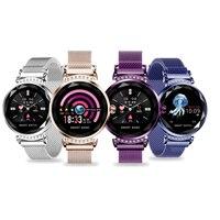 Для женщин Smart Band Элегантные наручные часы крови Давление монитор сердечного ритма динамический Цвет Экран Фитнес трекер спортивный умный