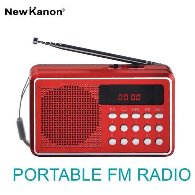 Nuevo Canon K088U radio FM USB/tf jugador de doble ranura para tarjetas SD portátil estación de radio receptor de Radio Freeshipping
