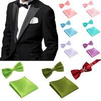 Pajarita de Los Hombres Pañuelo de Bolsillo de la Mariposa al por mayor Ajustable Bowtie Pajaritas Para Los Hombres de La Boda Del Banquete de Boda de 35 Colores