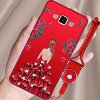 2pcs Soft Silicon Case Coque For Samsung Galaxy A8 A8000 Cases Cartoon Girls Back Cover For