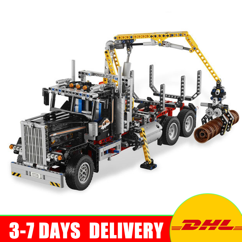 New Lepin 20059 Technic Mechanical Series The Logging Truck Set 1338pcs Children Educational Toys Blocks Bricks Compatible 9397 new lp2k series contactor lp2k06015 lp2k06015md lp2 k06015md 220v dc