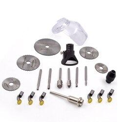 21 pièces perceuse électrique outils électriques avec coupe meulage outils rotatifs forets ensembles pour Dremel accessoires de travail des métaux