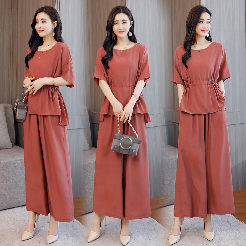 2331b8d29b2 Plus Size 4xl Wide Leg Two Piece Set Top And Pants Batwing Sleeve Tracksuit  Women Palazzo Pants Women Two Piece Outfits
