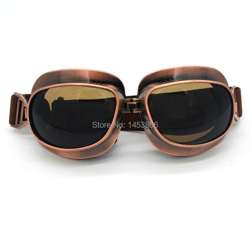 Evomosa Wholesale Retro for Harley style moto goggles dust-proof steampunk goggles sport sunglasses outdoors