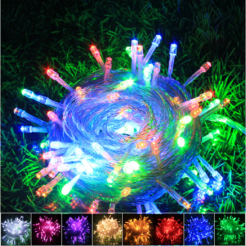 HI-Q waterproof LED String Light 30M 220V-240V Outdoor Decoration Light for Christmas Party Wedding 8Colors Free Shipping