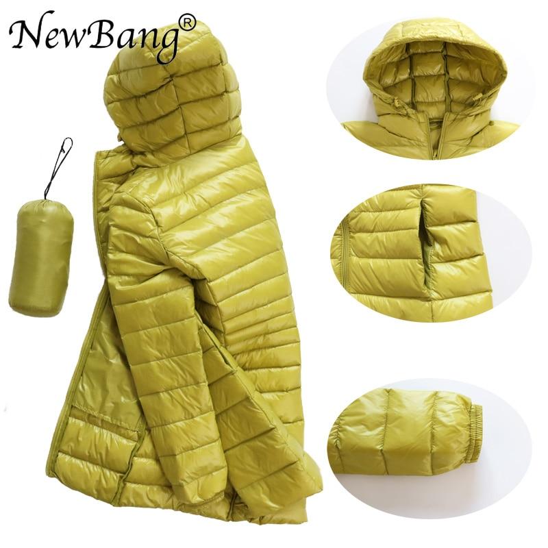 Image 4 - NewBang 8XL Ladies Long Warm Down Coat With Portable Storage Bag  Women Ultra Light Down Jacket Womens Overcoats Hip LengthDown Coats