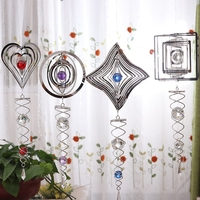Aqumotic Großen Hängenden Drehen Glocke Windspiele Outdoor Decor Kein Ton 3d Rund 1pc Herz Blume Schneeflocke Schmetterling Sonne