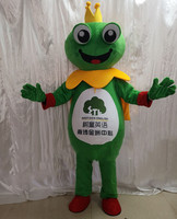 Frog Mascot Costume Cartoon Character Plush Mascot Costumes for Christmas Adult Suit Advertising Events Can Add Logo