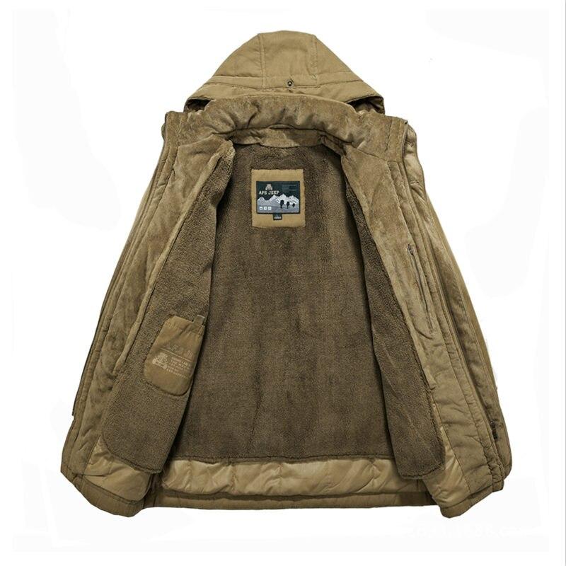 Winter Jacket Men Thickening Casual Cotton-Padded Jackets Winter Windbreaker Warm Parkas Plus Size 4XL Coats Jaqueta Masculina 32