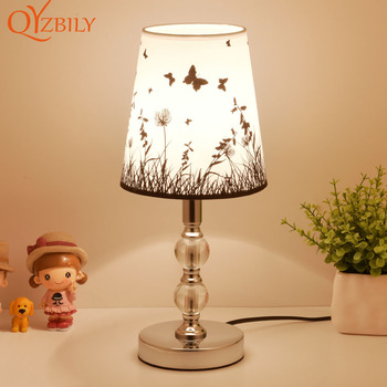 Lámpara de mesa para dormitorio, lámpara de cristal para mesita de noche,...