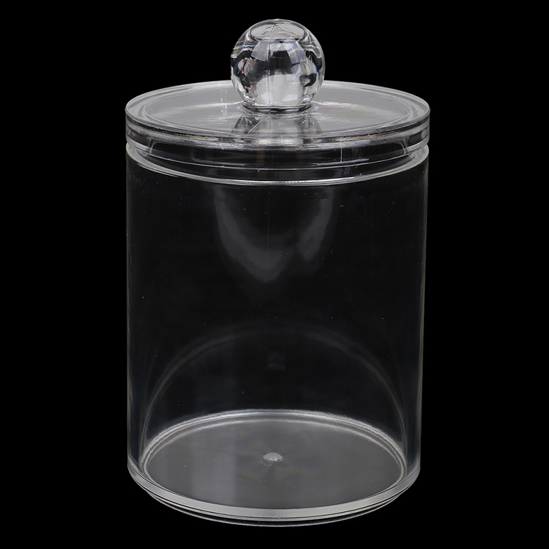 New 7X10CM Single Layer Clear Acrylic Storage Box Holder Transparent Cotton Swabs Stick Cosmetic Makeup Organizer Case