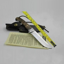 58HRC 7Cr17mov Outdoor camping tool shadow wood small hunting fixed blade knife