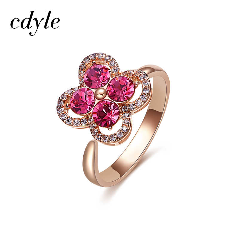811572c929d75 Cdyle Women Gold Ring Embellished with crystals from Swarovski ...