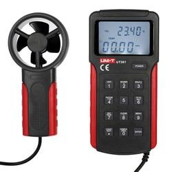 UNI-T UT361 miernik prędkości wiatru anemometr miernik prędkości powietrza przepływu pomiaru temperatury