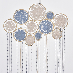 1 set DIY Large Doily Lace Dream Catcher Set Wedding Background Decoration