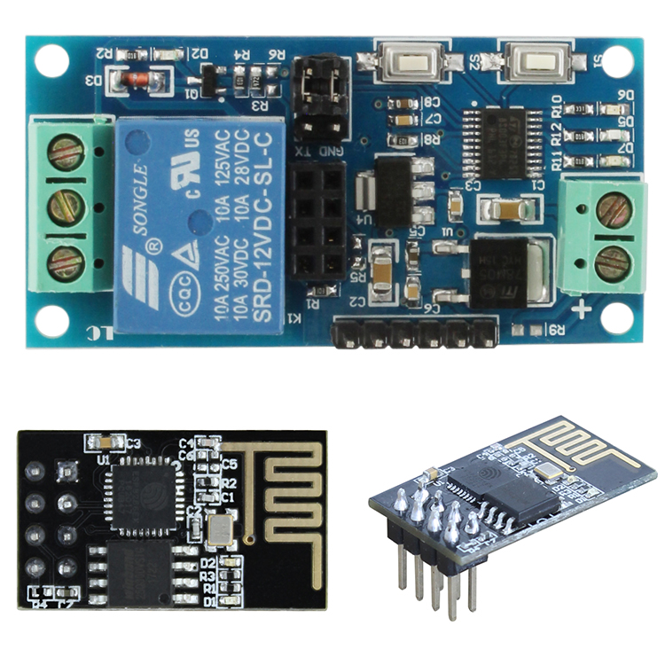 12V ESP-01 ESP8266 1 Channel WiFi Relay Module Remote Control Switch For IOT Smart Home Phone APP Controller