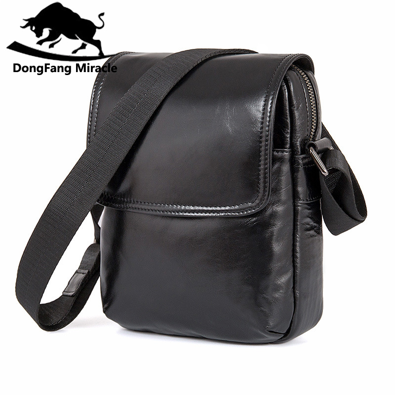 Men Business Cowhide Genuine Leather Mes