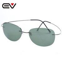 Fashion Men Women Titanium Rimless Coating Polarized Sunglasses Brand Designer Sport Outdoor Sun Glasses Oculos De