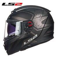 LS2 FF390 Breaker full face motorcycle helmet dual lens racing helmet with anti fog pinlock 100% original LS2 moto helmets