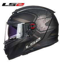 LS2 FF390 Breaker full face motorcycle helmet dual lens racing helmet with anti-fog pinlock 100% original LS2 moto helmets free shipping for 2016 new ls2 ff352 motorcycle helmet full helmet high grade helmet knight
