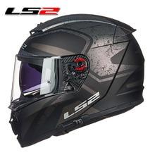 LS2 FF390 Breaker full face motorcycle helmet dual lens raci