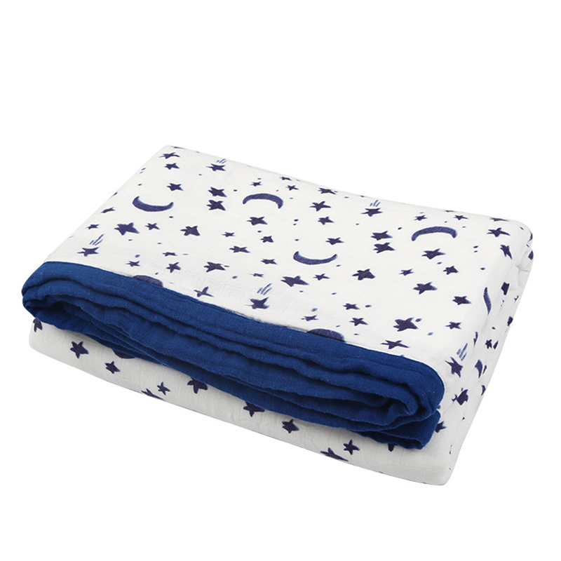 Muslin Baby Bamboo Cotton Soft Baby Blankets Swaddles Newborn Wrap Gauze Children Blankets Infant Bath Towel Size 150*200cm