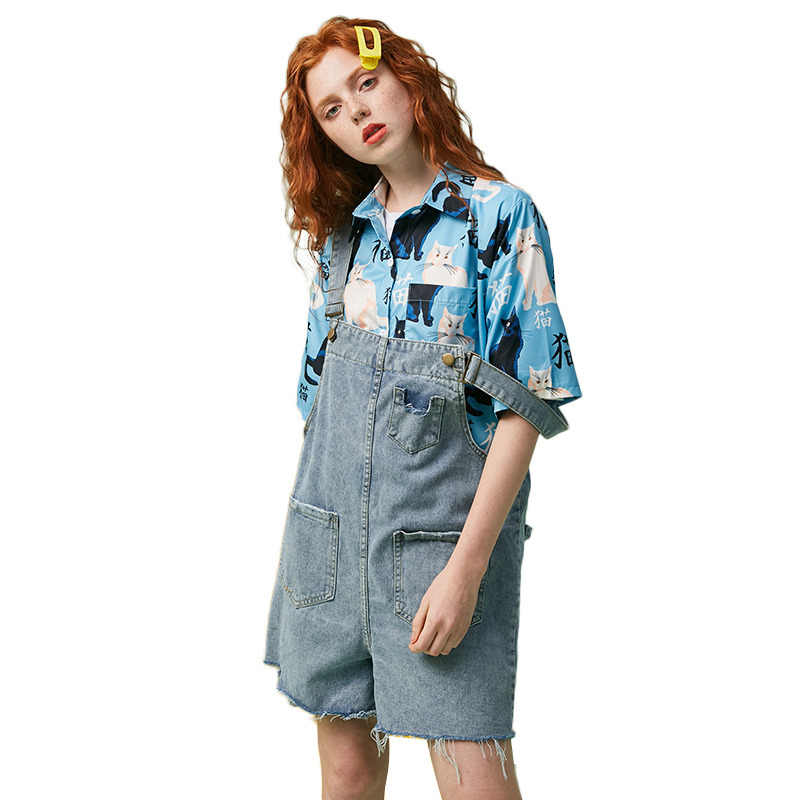 UNIFREE2019 летние новые женские брюки Повседневная мода старение джинсовый ремень Высокая Талия Короткие джинсы ремень шорты женские U192P014WW