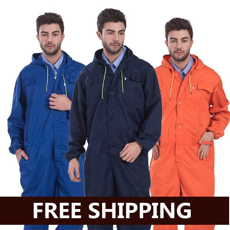 Working Clothes Mens Coverall Repairman Jumpsuits Trousers Jacket Set Working Uniforms Mens Workwear Coveralls Full Sleeve