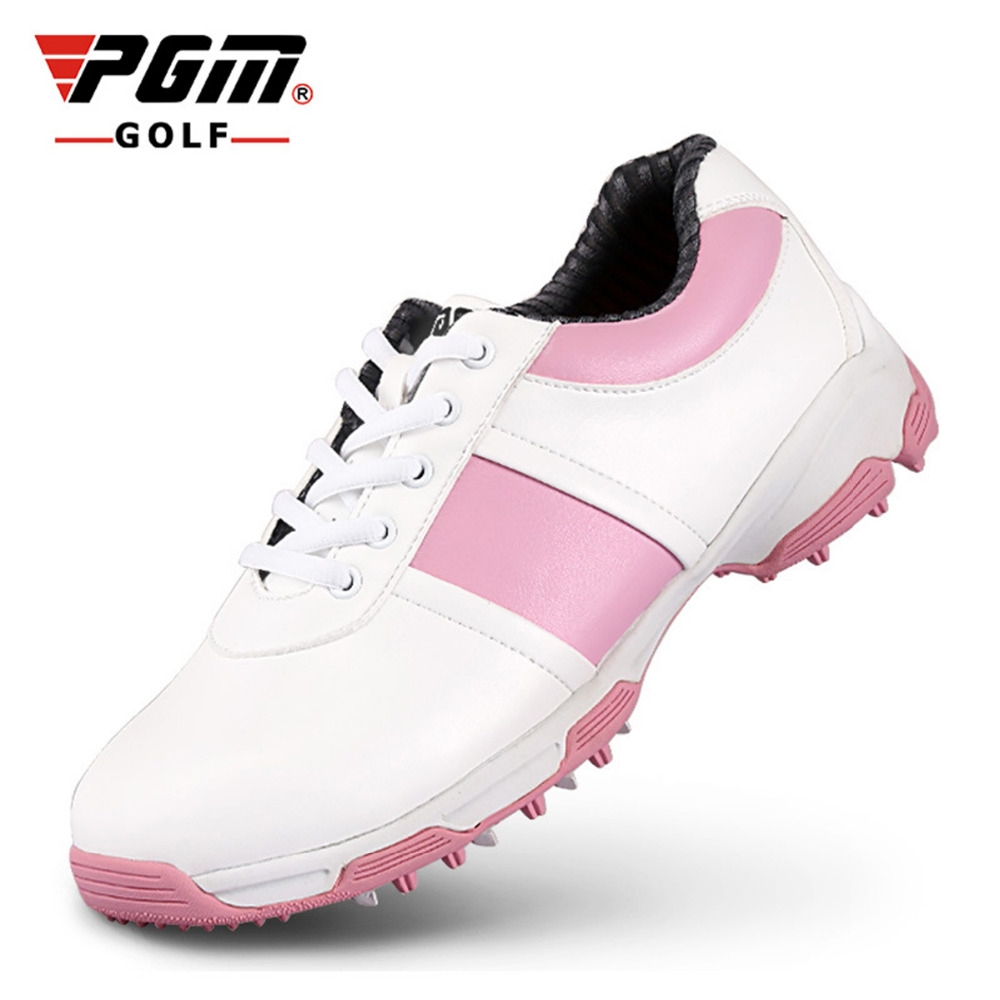 PGM Brand superfine leather Anti-skid golf shoes female Breathable waterproof sports sneakers wear-resistant outdoor sport shoes new hot sale children shoes comfortable breathable sneakers for boys anti skid sport running shoes wear resistant free shipping