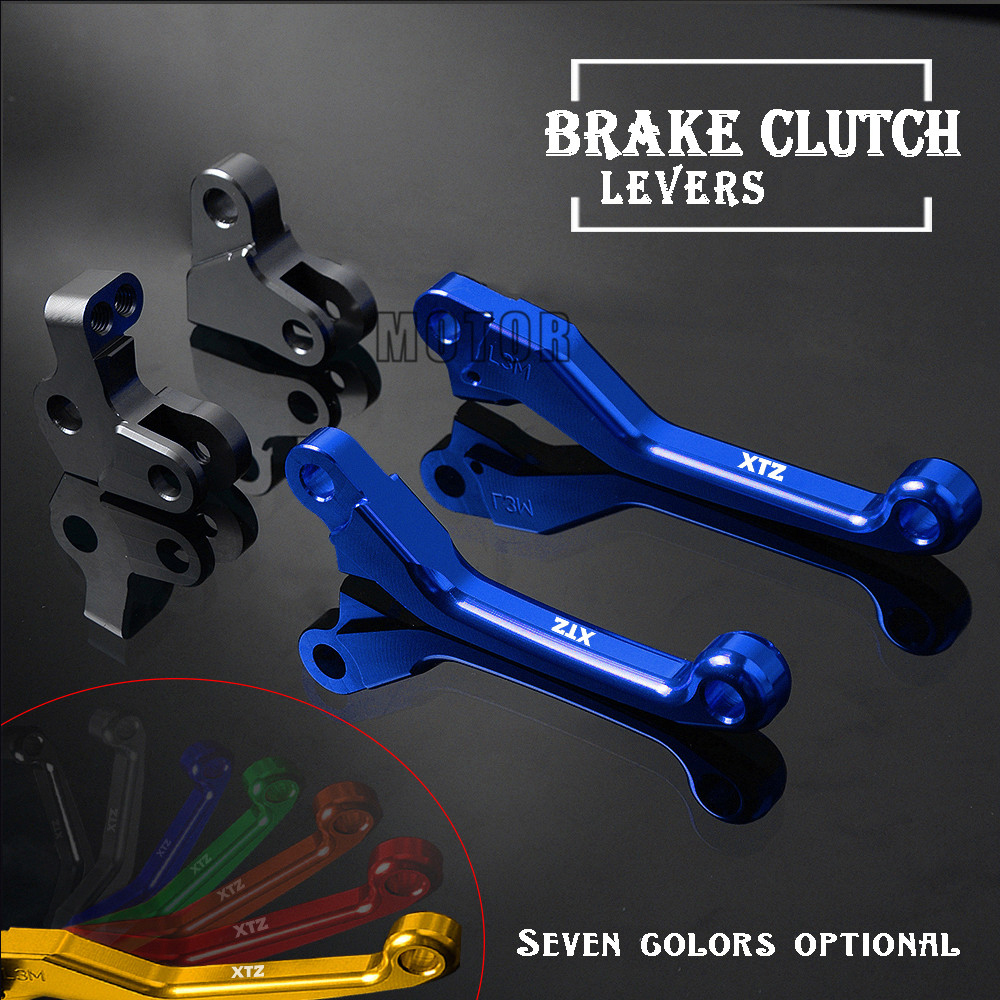 CNC Pivot Brake Clutch Lever For YAMAHA XTZ250 <font><b>XTZ</b></font> <font><b>250</b></font> XT <font><b>250</b></font> X XT250X XT 250X XT250 X 2006-2015 Motorcycle Brake Clutch Handle image