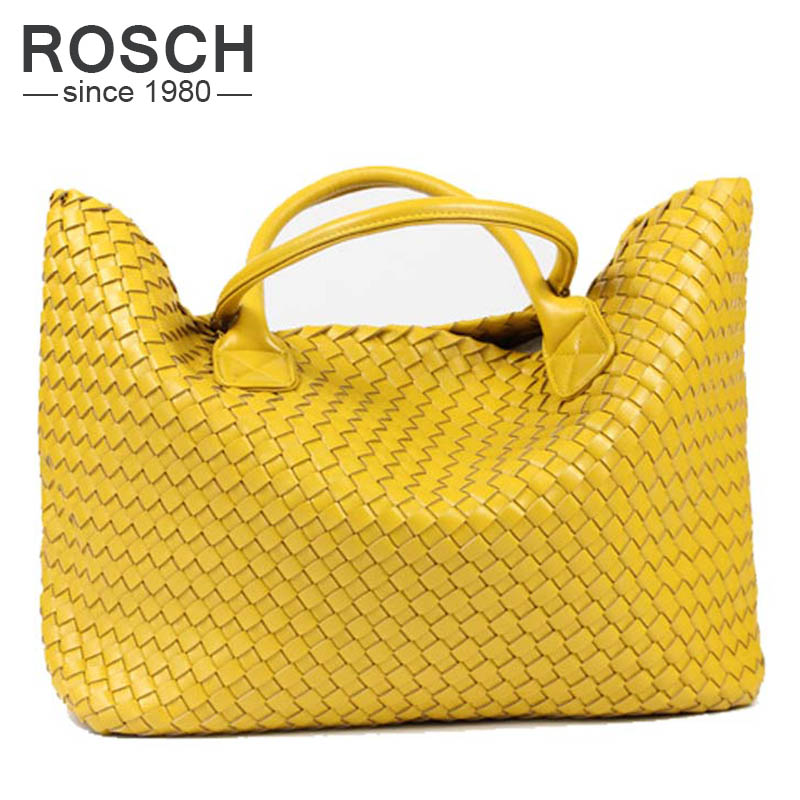 2226d1a181 2016 NEW Fashion Famous Brand PU Leather Woven Shoulder Bags For Office  Hand Bag Women High