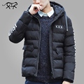 New Arrival Brand Clothing Winter Jacket Men Letter Printed Fashion Men's Coat Cotton Padded Jacket Male Slim Fit Solid Men Coat