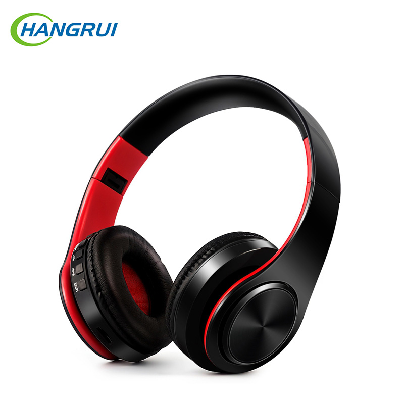HANGRUI Gaming Headset Headphone Over-ear Wireless headphones with Mic Hands free wireless bluetooth earphones Support TF Card gaming headphones wireless headset cuffie tbe82n waterproof