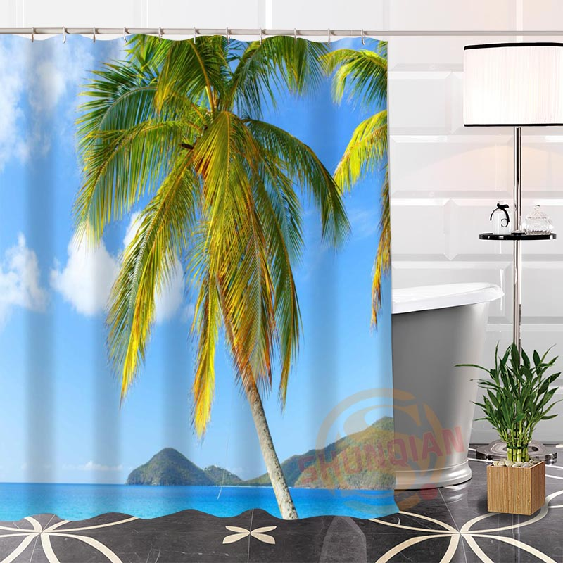 Hot New Eco-friendly Custom Unique British Virgin Islands Modern Shower Curtain bathroom Waterproof for yourself H0220-112