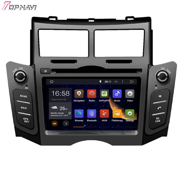 6 2 39 39 quad core android 5 1 car gps for toyota yaris 2005. Black Bedroom Furniture Sets. Home Design Ideas